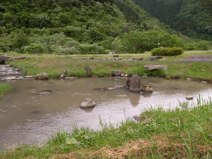 早池峰ダムの河川公園