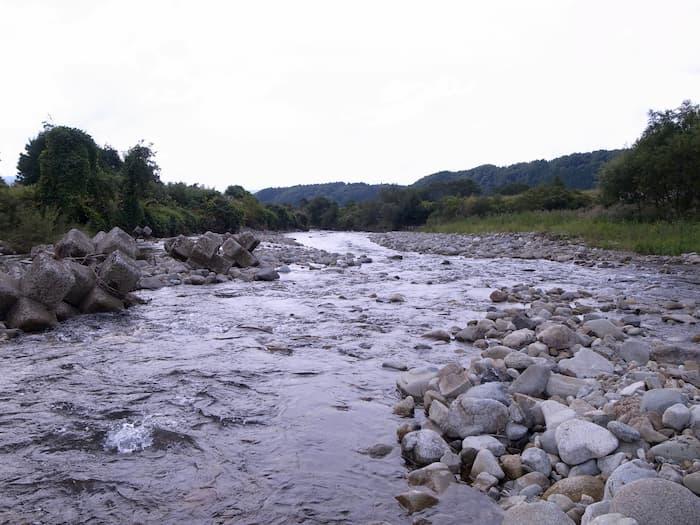 某川の中流域
