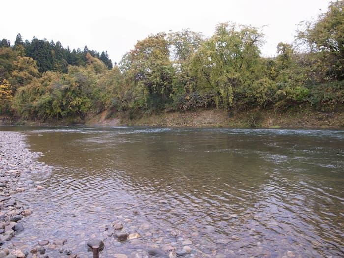 鮭川の流れ