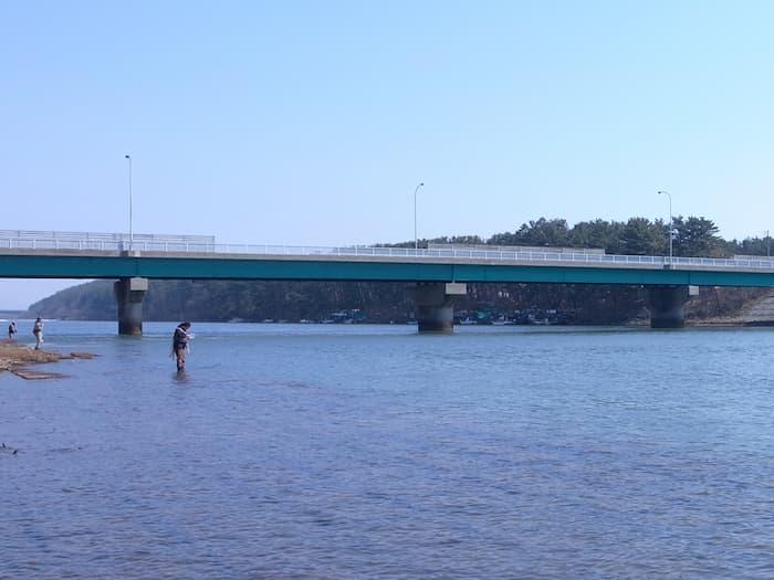 赤川の袖裏橋下