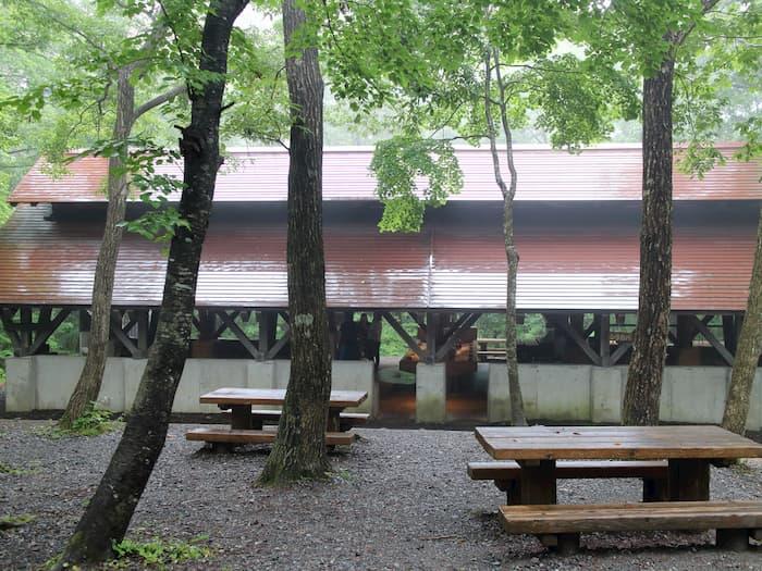 南蔵王野営場の炊事場