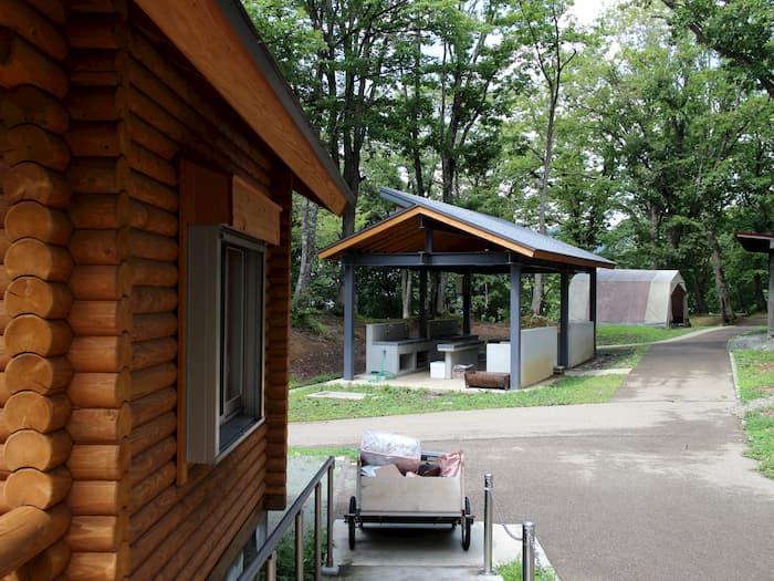 天童高原キャンプ場の炊事場