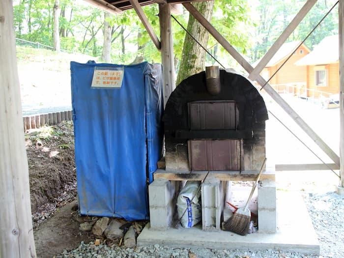 天童高原キャンプ場のピザ窯