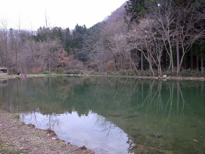秋保フィッシングエリアの1号池