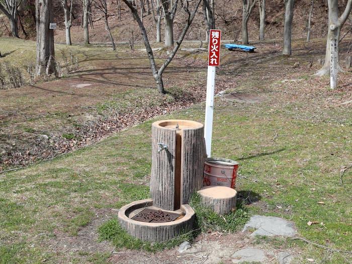 寒河江市いこいの森キャンプ場の水飲み場
