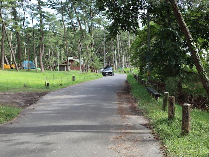 キャンプ場の道路
