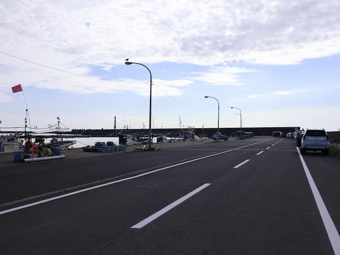漁港の道路
