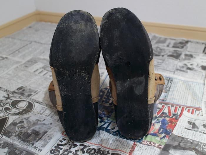ソールを剥がした靴底