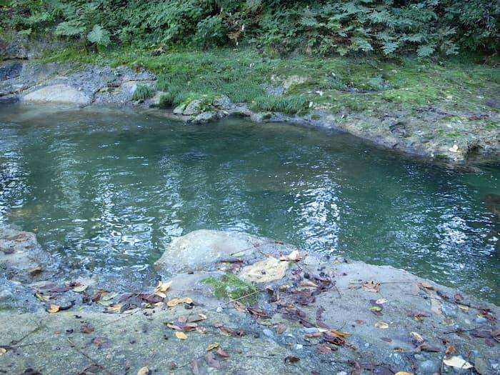 普通に撮影した水面
